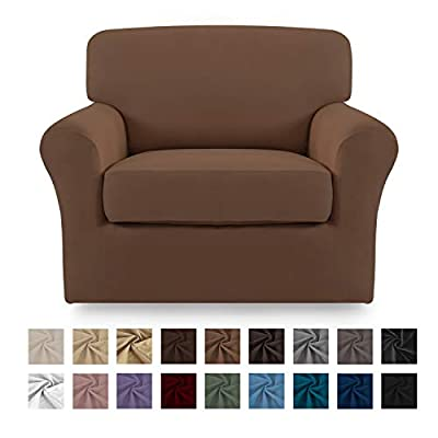 Easy-Going Stretch Micro Fiber silpcovers,2pieces Chair Cover