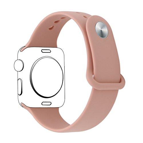 XIHAMA Cinturino Compatibile con Apple Watch Series 5 4 3 2 1, Silicone Cinturini di Ricambio Orologio Braccialetto per iWatch 44mm 40mm 38mm 42mm (38mm / 40mm, Rosa)