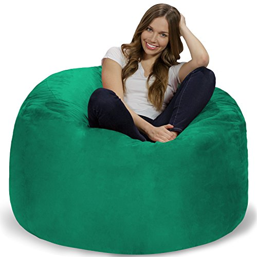 Chill Sack Bean Bag Chair: Giant 4' Memory Foam Furniture Bean Bag - Big Sofa