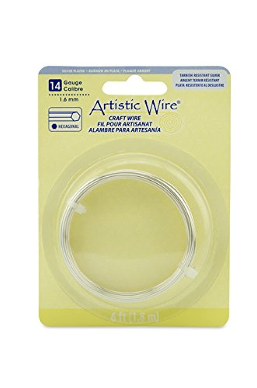 Artistic Wire Hexagonal Wire, Tarnish Resistant Silver