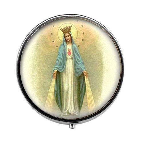 Pastillero de cristal, diseño de Virgen María