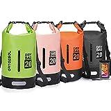 arteesol Dry Bag - 5L 10L 20L 30L Bolsa Seca Impermeable/Saco Bolsa Impermeable con Correa Larga Ajustable para Kayak Viaje en Barco Canoa/Pesca/Rafting/Natación/Snowboard
