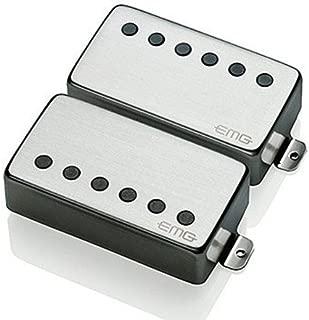 EMG 57/66 Bridge and Neck Humbucker Guitar Pickups Set, Brushed Chrome