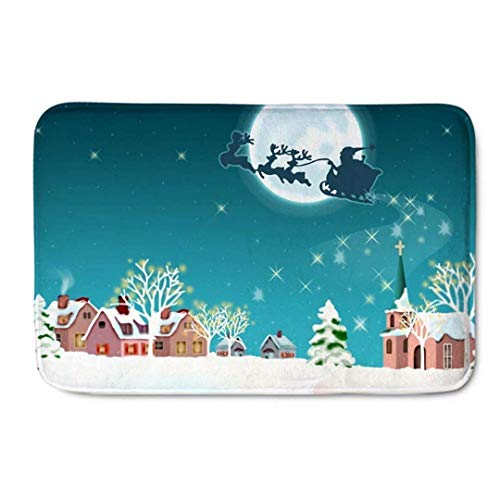 Zulmaliu Door Mat Merry Christmas Best Wish Bright Star...