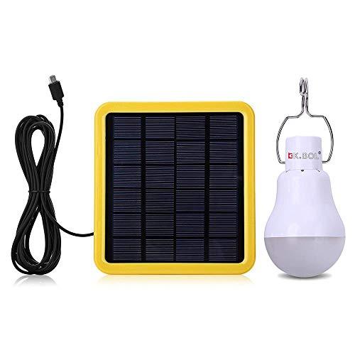 KK.BOL Solar LED lámpara de luces para el hogar luz interior luz de emergencia al aire libre senderismo tienda de campaña Camping noche luz de trabajo con función de sensor de luz
