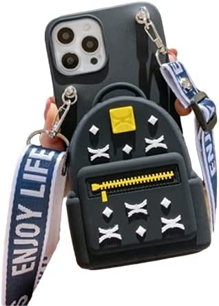 3D Backpack Crossbody Phone Case Wallet for 6.7