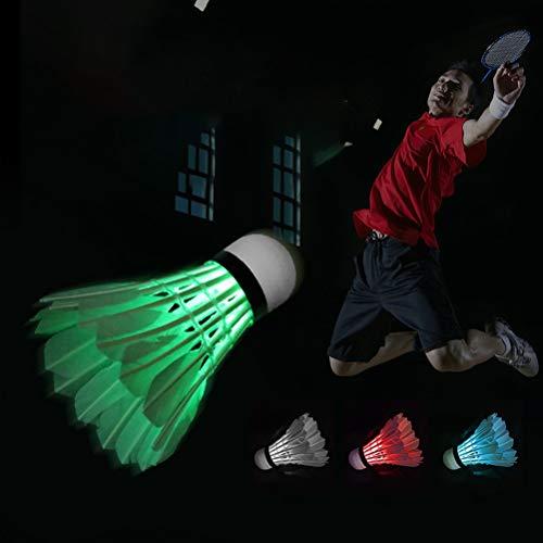 4Pcs LED Badminton Federbälle Dark Night Glow Birdies Badminton Ball Beleuchtung für Outdoor Indoor Sports Aktivitäten