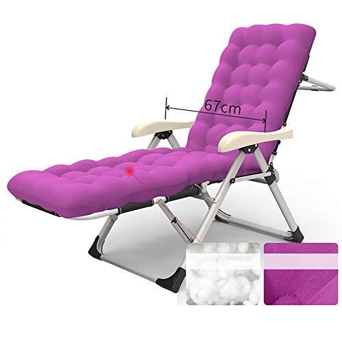 Chaise longue YNN élargie Chaise Pliante Chaise Pause-déjeuner Chaise de Plage portante 200kg Choix de 3 (Couleur : B)