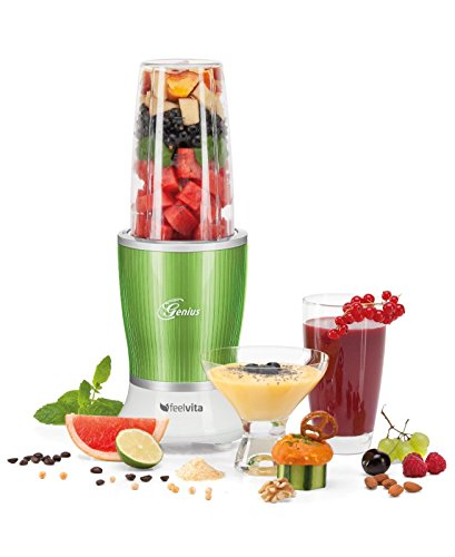 Genius Feelvita Nutri Mixer Set Smoothie-Maker Standmixer Blender 11tlg