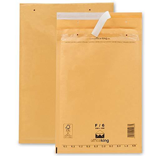 50 Luftpolsterumschläge F6 braun 240x350mm DIN A4+ Luftpolster Verpackung Polsterumschläge Briefumschläge gepolstert