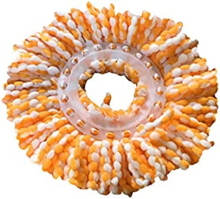 Mdsfe Cabezales de fregona de Microfibra de Repuesto 360 Spin Round Shape Tamaño estándar Easy Wring Spin Mop Refill TXTB1-03, a1