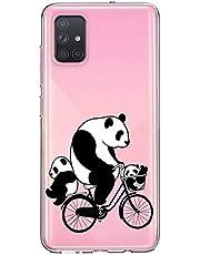 Oihxse Cristal Compatible con Samsung Galaxy M30s Funda Ultra-Delgado Silicona TPU Suave Protector Estuche Creativa Patrón Panda Protector Anti-Choque Carcasa Cover(Panda A10)