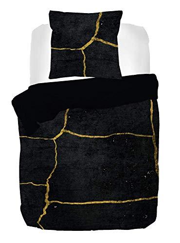 Kayori Yoshi Bettwäsche Baumwollsatin 135x200 cm Schwarz mit Reißverschluss