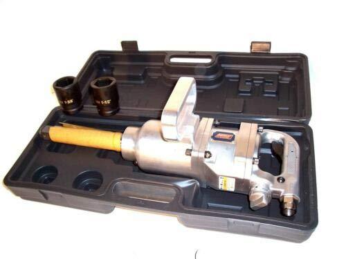 "(Best tools) 1"" Inch Drive Air Impact Wrench Tool Gun 1in dr Long Shank 2 Sockets 1900 lb HD"