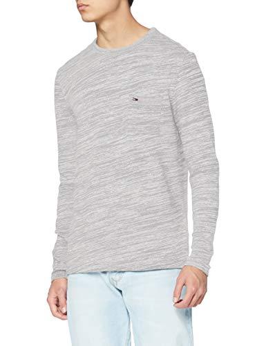 Tommy Hilfiger Knit Camisa, Gris (Lt Grey Htr 038), Small para Hombre