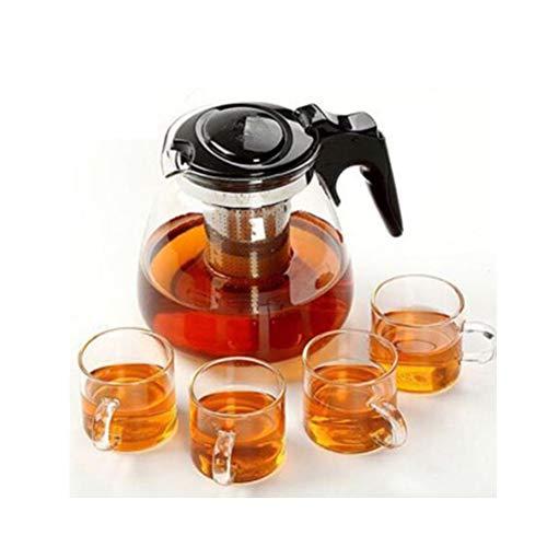Conjunto de tetera,Juego de té Juego de té chino Juego de té regalo Tetera de vidrio Tetera Tetera con infusor Plato de taza de té Juego de té Juego de taza y platillo Juego de taza de tetera