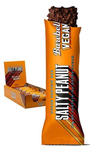Barebells Proteinriegel Salty Peanut Vegan 55g x 12 Proteinreich Kohlenhydratarm Kaum Zucker 20 Gramm Protein pro 55-Gramm-Riegel Köstliche Proteinriegel für Muskelaufbau und -regeneration