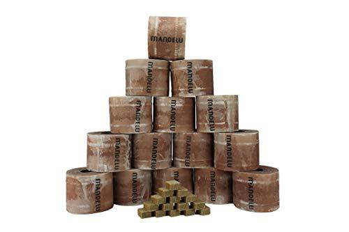 Mandelu Wachsrollen 15 Stück mit Anzündwürfeln