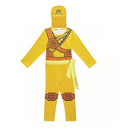 Thombase Disfraz de guerrero ninja para nios, disfraz de cosplay y fiesta con arma