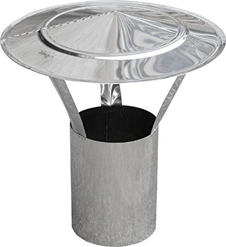 Housse de pluie DN 160 mm avec tiroir – Rond en Acier Inoxydable V4 A