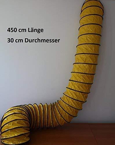 3D2S Spiralschlauch L/üftungsschlauch OldFe 5 m Lufttransportschlauch 40,7 cm Warmluftschlauch Bel/üftungsschlauch PVC