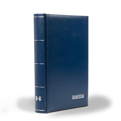 Star Collect Einsteckbuch 60 Schwarze Seiten, unwattierter Einband, 9 Klarsicht-Streifen pro Seite, blau