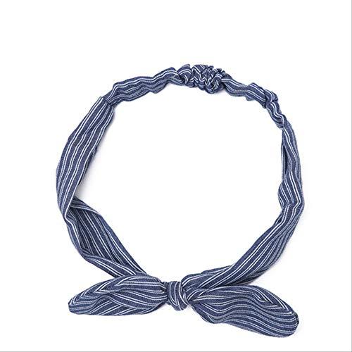 WLLBT Bohème Hairband Imprimé Hairband Femmes Rétro Cross Bow Turban Hairband Coiffe Taille unique 2-2