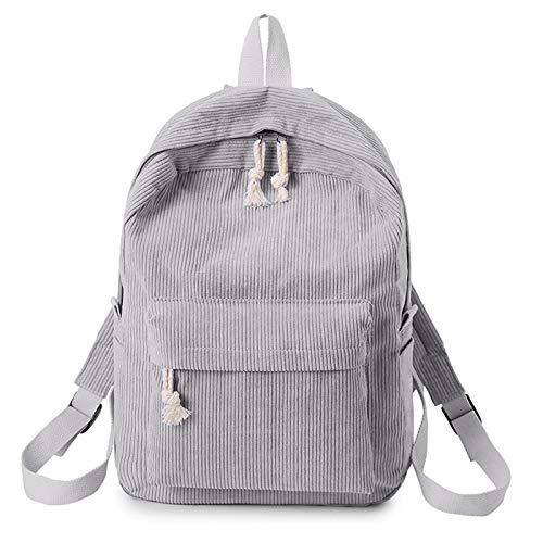 Picapoo Mochila de pana para la escuela para adolescentes y niñas de viaje, mochila de hombro personalizada