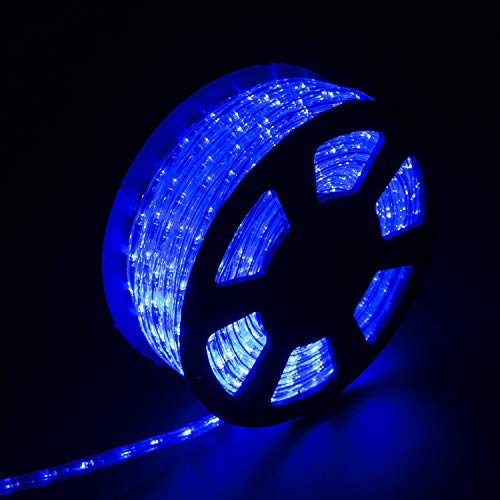 Diophros 150FT Rope Light, LED Strip Lights for Indoor Outdoor Rope Lighting Waterproof Decorative Lighting Backyards Garden and Party Decoration (Blue)