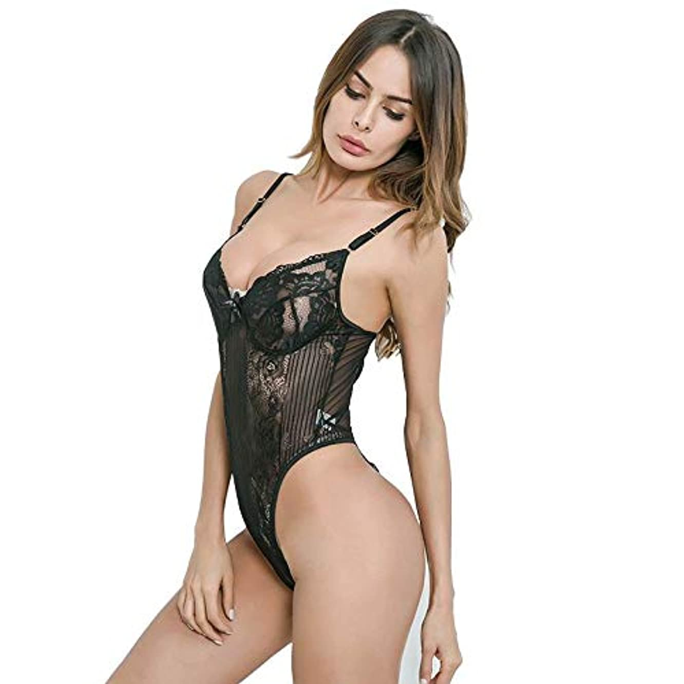 Lingerie for Women Deep V Sexy Lace Bodysuit Teddy One Piece Lace Babydoll Bodysuit