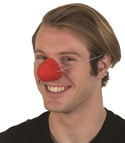 Red Rubber Squeaking Honking Clown Nose Circus Carnival Costume Accessory