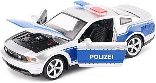 WASHULI Druckguss-Legierung Auto-Modell-Spielzeug 01.32 Ford Mustang GT Police Car Simulation Schmuck Sports Car Collection Schmuck