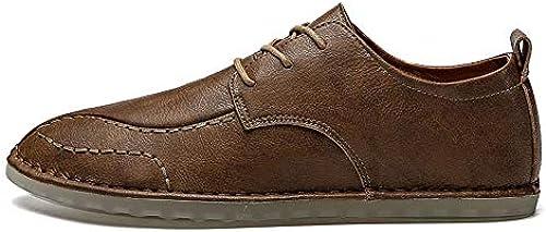 Unbekannt Schuhe Herren-Halbschuhe Schnürschuhe Casual Retro Modern Solid Farbe Schuhe Lederschuhe