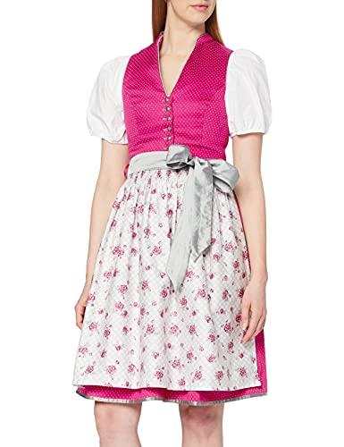 Stockerpoint Damen Rika Dirndl, Mehrfarbig (Pink-Grau Pink-Grau), (Herstellergröße: 36)
