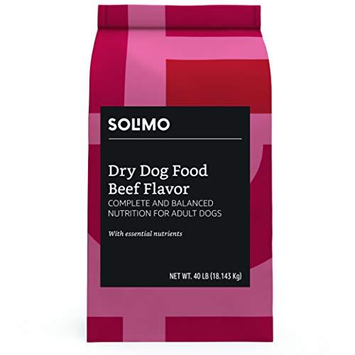 Amazon Brand - Solimo Basic Dry Dog Food, Beef Flavor, 40 lb bag