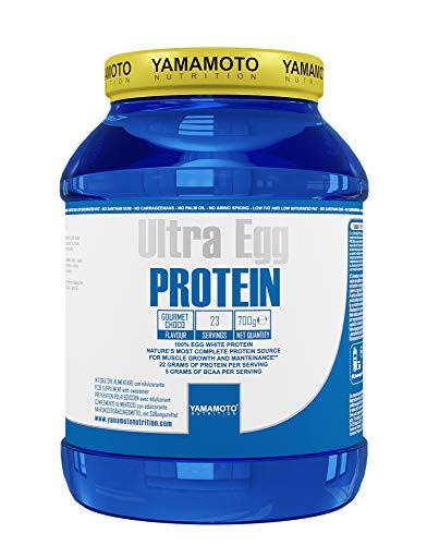 Yamamoto Nutrition Ultra Egg PROTEIN integratore alimentare a base di proteine da albume d'uovo gusto Cioccolato 700g