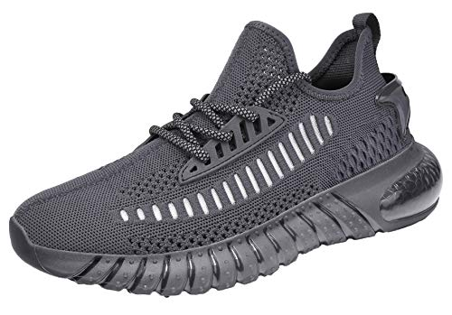 SUOKENI Men's Fashion Sneaker Breathable Running Shoes Lightweight Walking Shoes Darkgrey2,Size:US 8/EU 41
