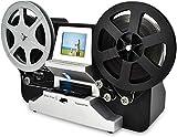 8mm & Super 8 Reels to Digital MovieMaker Film Sanner, Pro Film Digitizer Machine with 2.4' LCD, Black (Convert 3 inch and 5 inch 8mm Super 8 Film reels) with 32 GB SD Card