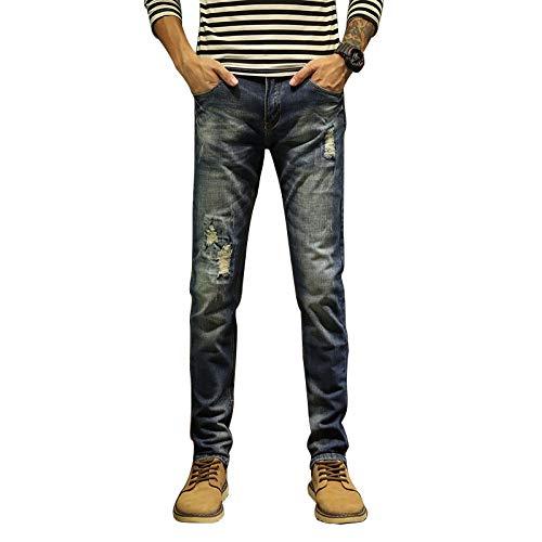 Corumly Pantalones Vaqueros Rectos para Hombre Americana Pantalones de Mezclilla de algodón Rectos...