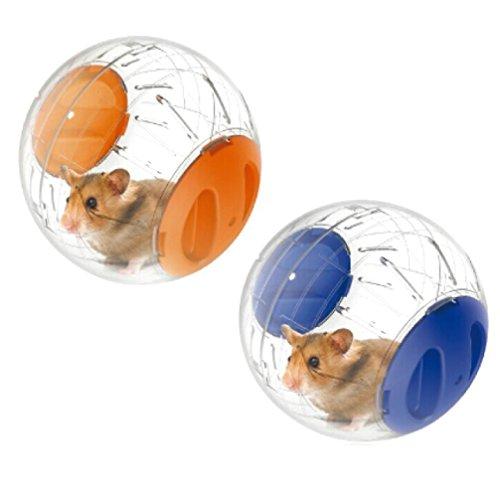 emours Zwerghamster Laufball Mini 12,2 cm Kleintier-Hamster-Lauf-Übungsball, 2 Stück