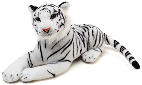 Saphed The White Tiger - 17 Inch (Tail Measurement Not Included) Stuffed Animal Plush - by Tiger Tale Toys