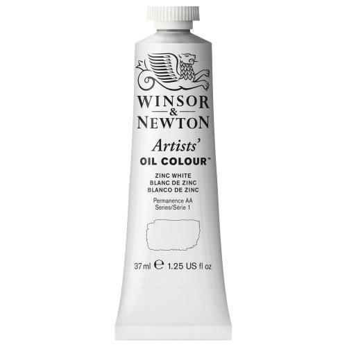 Winsor & Newton 1214748 Artists' Oil Color Paint, 37-ml Tube, Zinc White