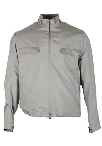 Loro Piana CL Gray Bomber Jack Storm System Coat Size M Medium Outerwear