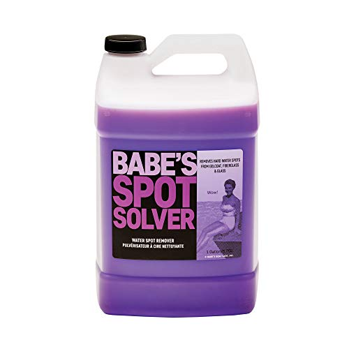 Babe's Spot Solver Non-Abrasive Hard Water Spot Remover - Dissolves Mineral Build-Up from Gelcoat, Chrome, and Glass (1 Gallon)