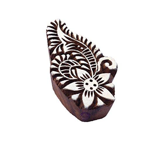 Royal Kraft Arty Crafty Stilvoll Paisley Entwürf Hölzern Stempel für Drucken - DIY Henna Stoff Textil Papier Ton Keramik Blocke Druckstempel