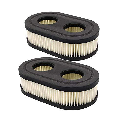 OxoxO 2 cartuchos de filtro de aire ovalados para Troy-Bilt TB110 TB115 TB200 TB230 TB330 Walk-behind cortacésped MTD Yard Machines Murray Craftsman