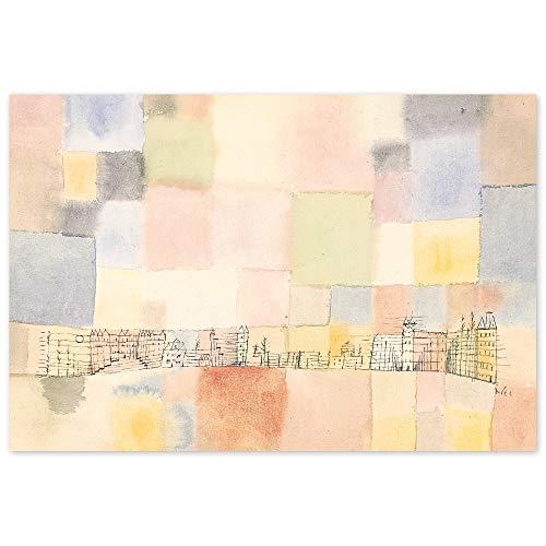 JUNIWORDS Poster, Paul Klee, Neuer Stadtteil in M, 87,5 x 60 cm