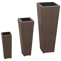 vidaxl pflanzs ule aus braunem rattan floristikvergleich. Black Bedroom Furniture Sets. Home Design Ideas