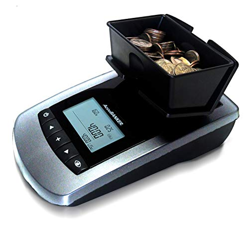 AccuBANKER Bill and Coin Counter MS10 2 in 1 Portable Money Scale Multi-Currency USD – CAD – EUR Counts both Rolled…