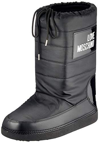 Love Moschino Damen St.ttod.skiboot 20 Mm, Nylon Combat Boots, Schwarz (Nero 000), 37/38 EU